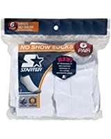 Starter Men's 6-Pair White No Show Socks - Shoe Sizes 6-12