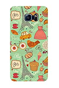 ZAPCASE Printed Back Case for SAMSUNG GALAXY S6 EDGE