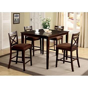 Hokku Designs Easton 5 Piece Counter Height Dining Set