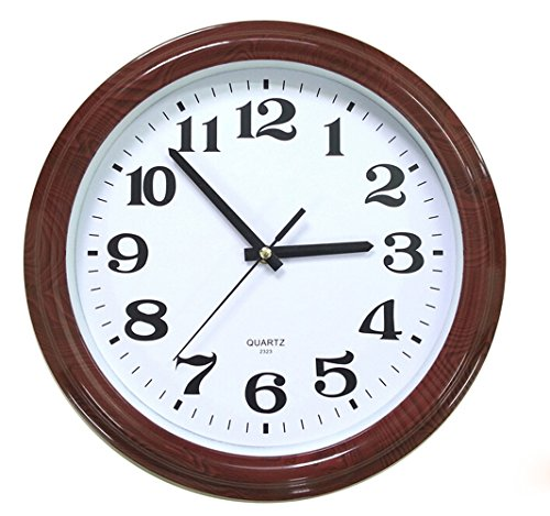 Bekith 13-Inch Wooden Pattern Plastic Analog Quartz Wall Clock