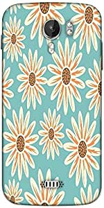 Snoogg seamless floral pattern flowers texture daisy Designer Protective Back Case Cover For Micromax A116