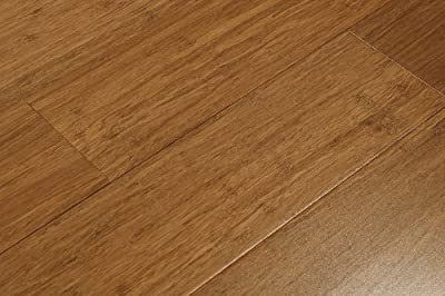 6 ft 5 in Amerique Strand Woven Carbonized Solid Bamboo Flooring (6 inch Sample)