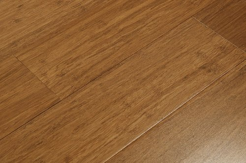 6 ft 5 in Amerique Strand Woven Carbonized Solid Bamboo Flooring