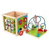 KidKraft Bead Maze Cube, Multi Color
