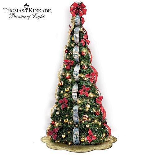 Pull Up Decorated Christmas Tree: #> Cheap : Thomas Kinkade Pre-Lit Pull-Up Christmas Tree