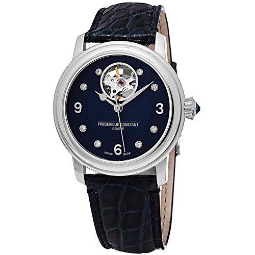 frederique-constant-femme-34mm-bracelet-cuir-boitier-acier-inoxydable-automatique-montre-fc-310hband
