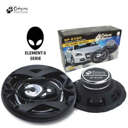 Sphynx Car Hifi 3 Wege Auto-Lautsprecher 16,5cm