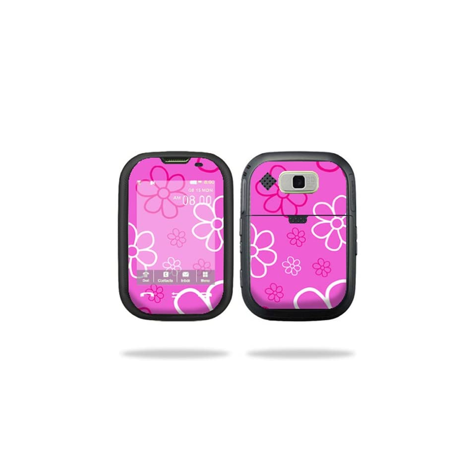 Protective Vinyl Skin Decal Cover for Pantech Pursuit AT&T Cell Phone Sticker Skins Flower Power Cell Phones & Accessories