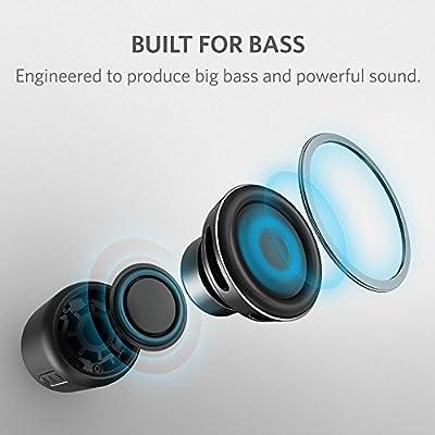 Anker SoundCore mini, Super-Portable Bluetooth Speaker with 15-Hour Playtime, 66-Foot Bluetooth Range, FM Radio, Enhanced Bass - Black
