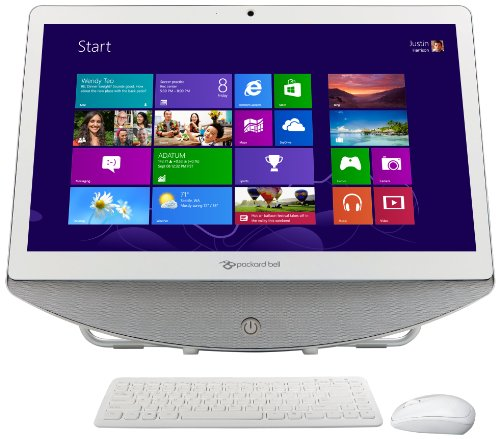 Packard Bell OneTwo 20 inch All in One Desktopp PC (AMD E1 1200, 8Gb RAM, 2Tb HDD, DVDRW, LAN, WLAN, Integrated Graphics, Windows 8)
