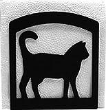 Iron Cat Table Napkin Holder - Black Metal