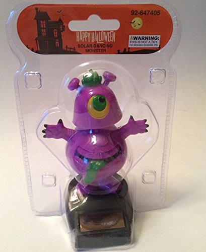 Fun Toys Halloween Solar Dancing Monster Purple Powered Dancing Figure for collecting and Halloween gift toy (Robot Vacuum Mario compare prices)