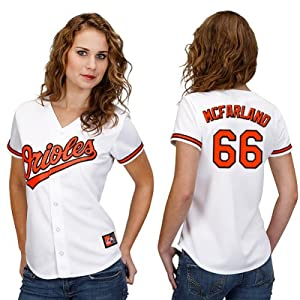 TJ Mcfarland Baltimore Orioles Home Ladies Replica Jersey by Majestic by Majestic