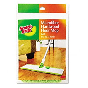 Scotch-Brite Products - Scotch-Brite - Hardwood Floor Mop Refill, Microfiber - Sold As 1 Each - Durable refill head is machine-washable and reusable. - Fits Scotch-BriteTM Hardwood Floor Mop (MMM-M005), sold separately. -