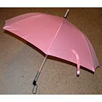 LED Light Umbrella BLADE RUNNER - Pink with Pink Lighted Rod for Summer & Winter, Sun & Rain