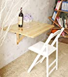 hen & Dining Solid Wood Table Desk, 80cm(31.5in)×60cm(23.6in), Natural, FWT02-N