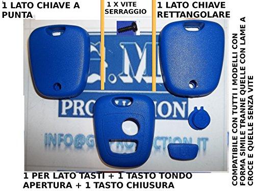 G.M. Production - CP KIT 01 Blu - GUSCIO COVER BLU PER CHIAVE TELECOMANDO 2 TASTI CITROEN PEUGEOT TOYOTA [controllare foto e dettagli compatibilità]