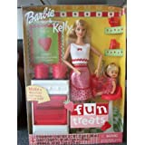 Mattel Barbie & Kelly Fun Treats Doll With Oven & Kitchen Accessories