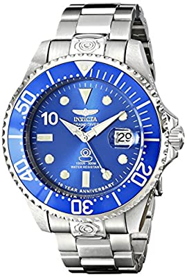 Invicta Men's 16857 Grand Diver Analog Display Japanese Automatic Silver Watch