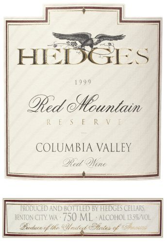1999 Hedges Family Estate Red Mountain Reserve 750 Ml