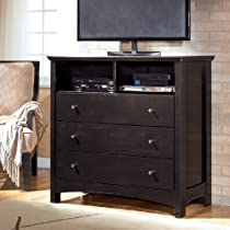 Big Sale Contemporary Dark Brown Harmony Media Chest