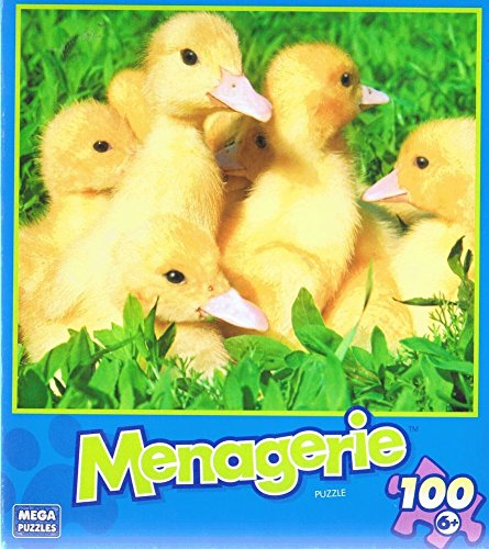 Menagerie 100 Piece Jigsaw Puzzle - Ducklings by Mega Brands