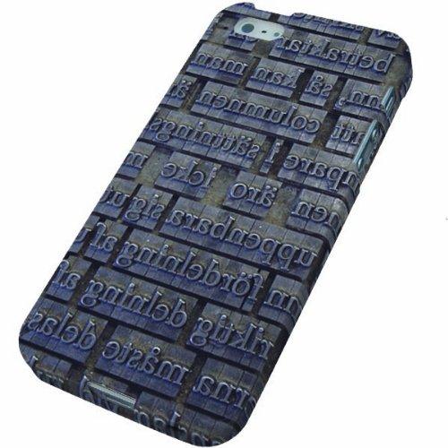 iPhone5 / iPhone5s 共用 (docomo/au/SoftBank) TPU まるっと印刷 ソフトケース 735 活版 光沢仕上げ 横まで印刷