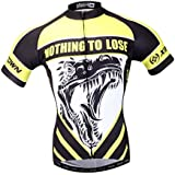 Baoblae Summer Men's Cycling Jersey Shirt Elastic Reflective Bicycle Top Sweat Absorbing