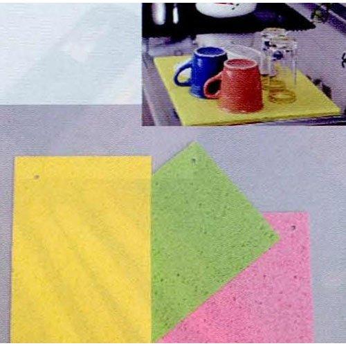 水切マット 大判 45×31cm 黄緑 B20-0831
