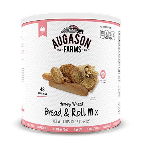 Augason Farms Honey Wheat Bread & Roll Mix #10 Can, 58 oz (Bread Honey Wheat compare prices)
