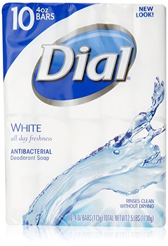Dial White Antibacterial Soap, 4-Ounces Bars, 10 Count  by D