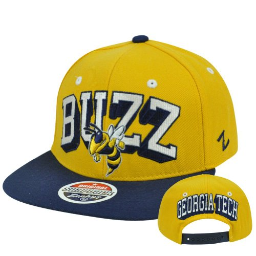 NCAA Georgia Tech Yellow Jackets Zephyr Blockbuster Adjustable Snapback Hat Cap at Amazon.com