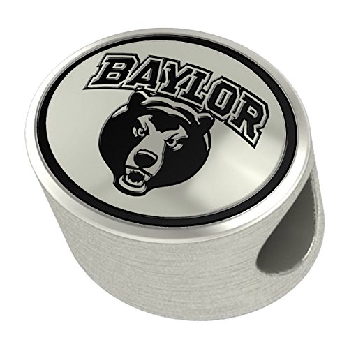 Baylor Bears Silver Antiqued Bead Fits Most European Style Charm Bracelets