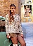 Sirdar Simply recycled Aran Knitting Pattern 9581