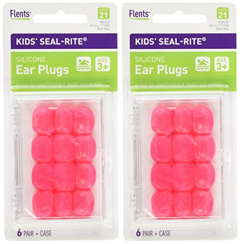 Flents Kids Silicone Ear Plugs, 2 Count (Pressure Equalizing Ear Plugs compare prices)