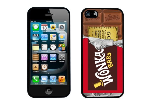 Willy Wonka Golden Ticket Chocolate Bar iPhone 5 Black Case