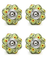 Knobs & Hooks Ceramic Cabinet Knob; Multi; Set of four pieces