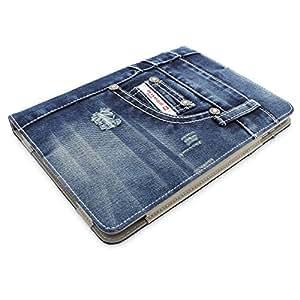 Snugg™ Étui Pour iPad 2 - Smart Cover Avec Support Pied Et Une Garantie à Vie (En Cuir Bleu Jean) Pour Apple iPad 2