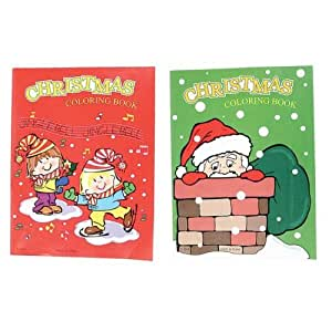 Amazon 12 Christmas Coloring Books 6 Red 6 Green