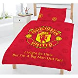 Manchester Football Club MUFC Red Junior Cot Bed Duvet Quilt Cover