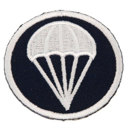 Generic Men's WWII WW2 US Airborne Paratrooper Garrison Cap Badge Insignia 2.0X2.0 Blue