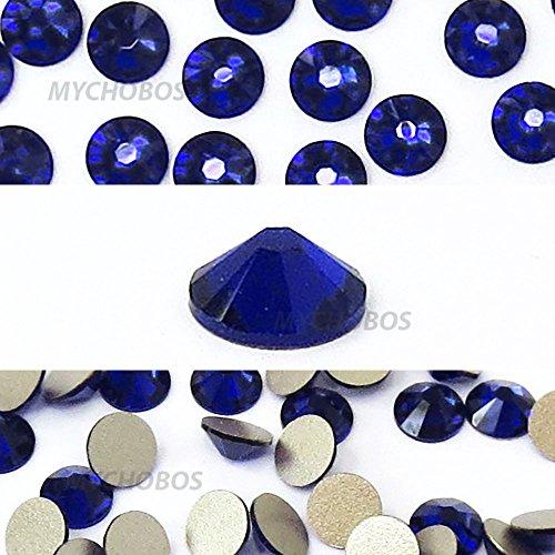 COBALT (369) blue Swarovski NEW 2088 XIRIUS Rose 34ss 7mm flatback No-Hotfix rhinestones ss34 18 pcs (1/8 gross) *FREE Shipping from Mychobos (Crystal-Wholesale)*