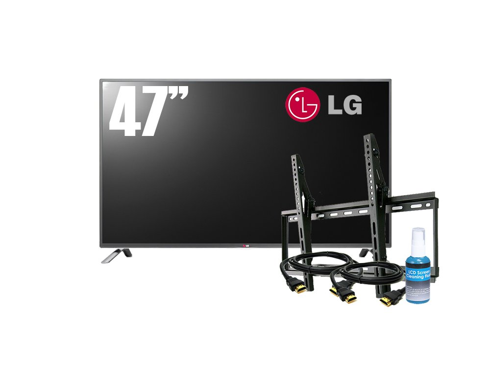 Lg-Electronics-47-inch-1080p-120hz-Smart-Led-Tv-Plus-Bonus-Bundle-Which-Includes-Flat-Wall-Mount-2-Hdmi-Cables-and-a-Screen-Cleaning-Kit-47lb6300-bonus-Bundle-