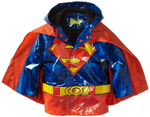 Western Chief Little Boys' Superman Forever Rain Coat, Blue, 3T front-1013948