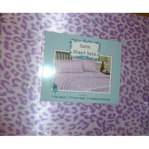 Amazon.com - Lilac Purple Leopard Print Satin Full Size