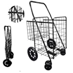 Folding Shopping Cart with Double Bas...