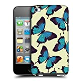 Head Case Blue Butterfly Pattern Back Case Cover For Apple iPod Touch 4G 4th Gen