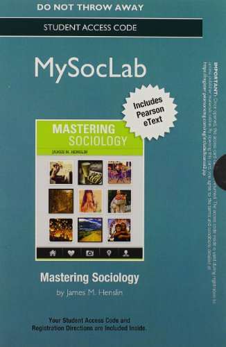NEW MySocLab with Pearson eText -- Standalone Access Card -- for Mastering Sociology (Rent Mastering Sociology compare prices)