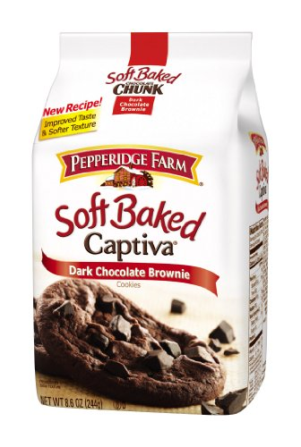 Pepperidge Farm Soft Baked Cookies, Captiva Dark Chocolate Brownie, 8.6-ounce (pack of 5)