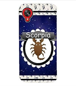 ColourCraft Zodiac Scorpio Back Case Cover for LG GOOGLE NEXUS 5